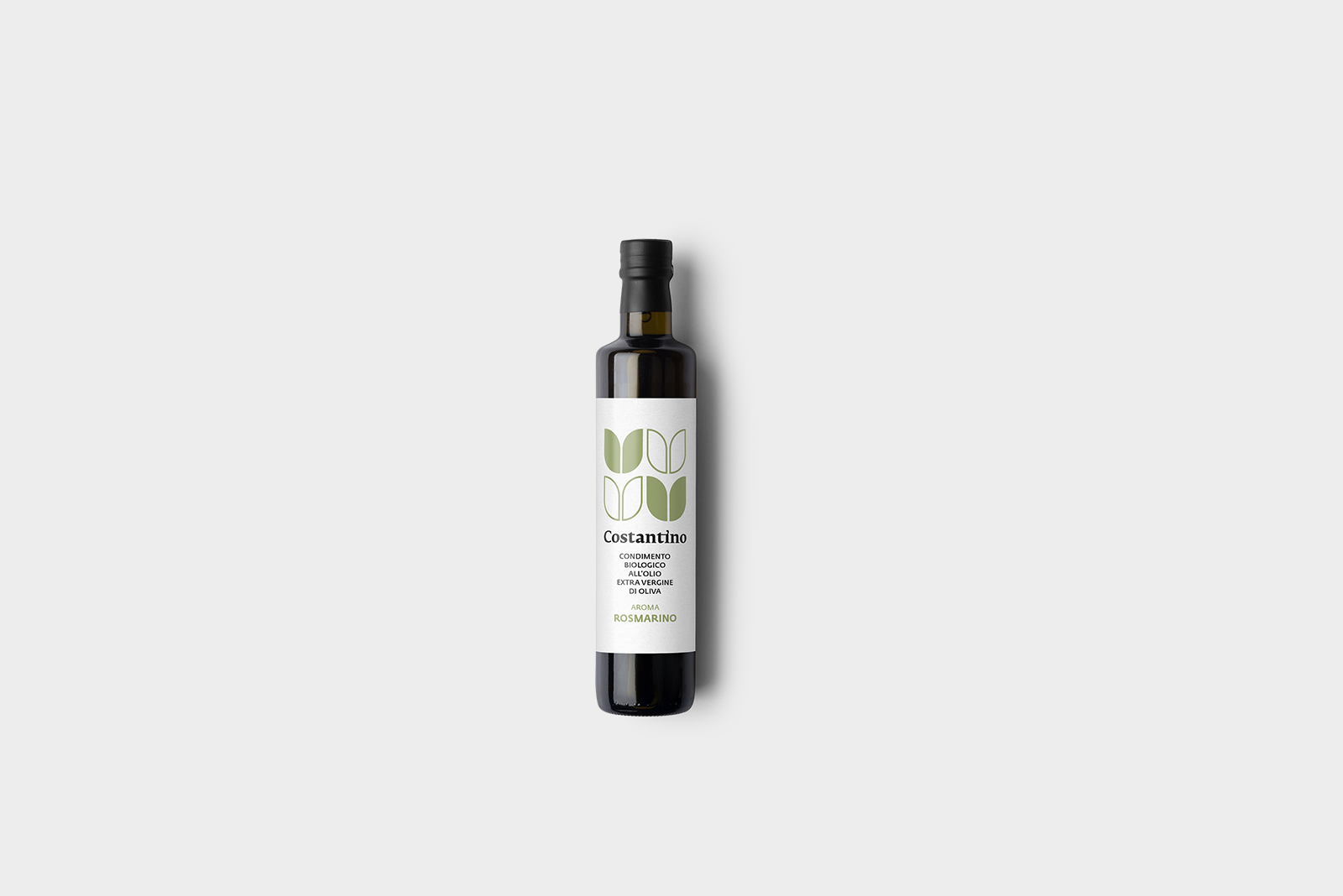 Costantino - Condimento Biologico a base di Olio Extra Vergine d'Oliva e Rosmarino - bottiglia 10cl