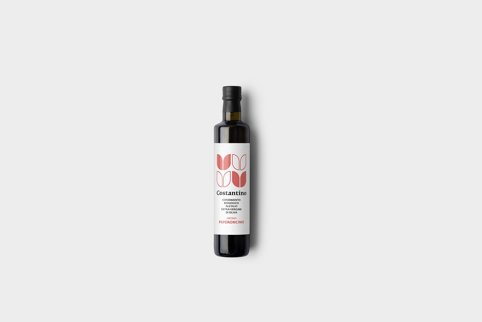 Costantino - Condimento Biologico a base di Olio Extra Vergine d'Oliva e Peperoncino Roggianese - bottiglia 10cl